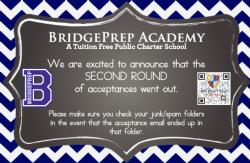 Second Round Acceptances for 2020-2021 School Year